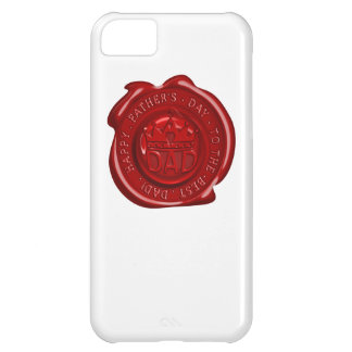 World's best dad wax seal iPhone 5C cases