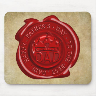 World's best dad wax seal mouse pad