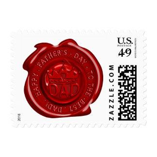 World's best dad wax seal postage