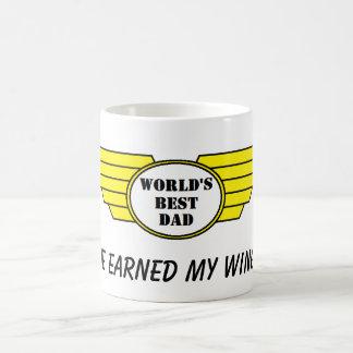 worlds best dad wings earned mug