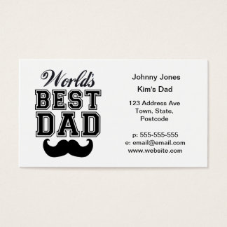 World's best dad with mustache business card