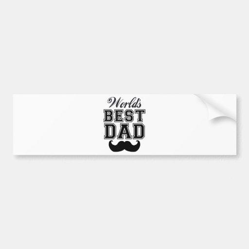 World's best dad with mustache car bumper sticker