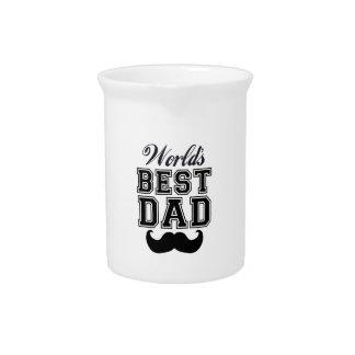 World's best dad with mustache drink pitcher
