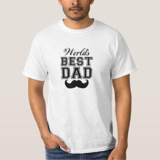 World's best dad with mustache T-Shirt