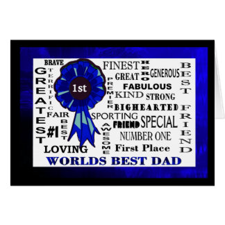 Worlds Best Dad Word Collage Fathers Day Card
