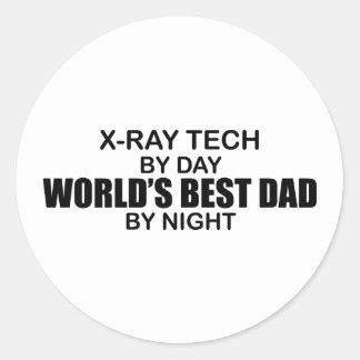 World's Best Dad - X-Ray Tech Classic Round Sticker