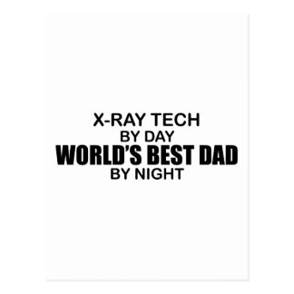 World's Best Dad - X-Ray Tech Postcard