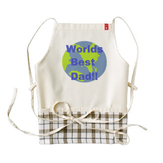 Worlds Best Dad Zazzle HEART Apron
