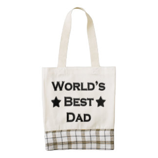 World's Best Dad Zazzle HEART Tote Bag