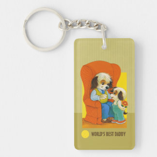 World's Best Daddy. Father's Day Gift Keychains