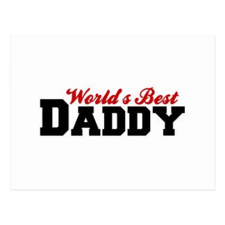 Worlds Best Daddy Postcard