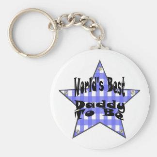 World's Best Daddy To Be Basic Round Button Keychain