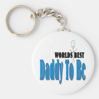 World's Best Daddy To Be Keychain