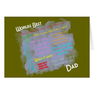 Worlds Best Dadism Card