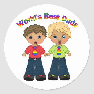 World's Best Dads Gay Pride Gifts and Tees Classic Round Sticker