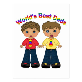 World's Best Dads Gay Pride Gifts and Tees Postcard
