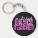 World's Best Dance Teacher Basic Round Button Keychain