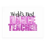 World's Best Dance Teacher Post Card