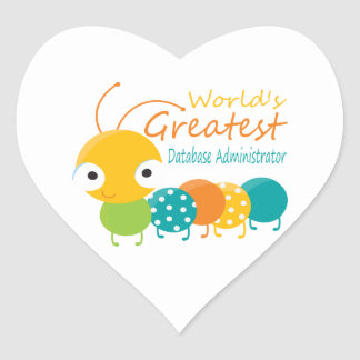 World's Best Database Administrator Heart Sticker