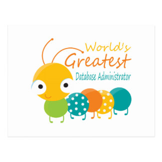 World's Best Database Administrator Postcard