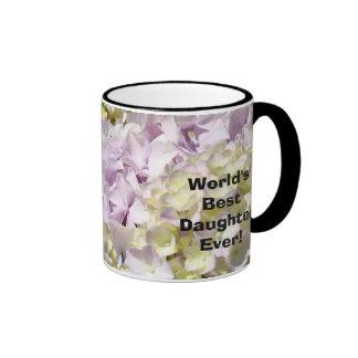 World's Best Daughter Ever! Coffee Mug Hydrangeas
