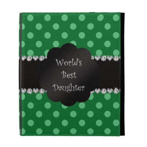 World's best daughter green polka dots iPad case