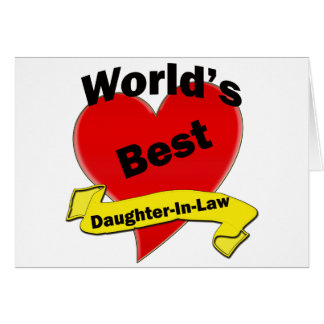 World's Best Daughter-In-Law Card