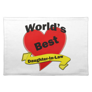 World's Best Daughter-In-Law Cloth Placemat