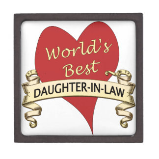 World's Best Daughter-In-Law Jewelry Box