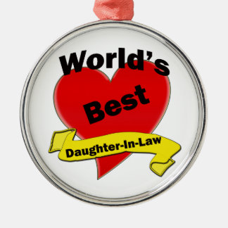 World's Best Daughter-In-Law Metal Ornament