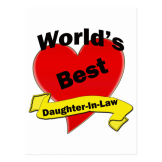 World's Best Daughter-In-Law Postcard