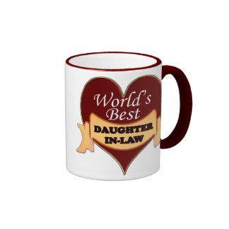 World's Best Daughter-In-Law Ringer Mug