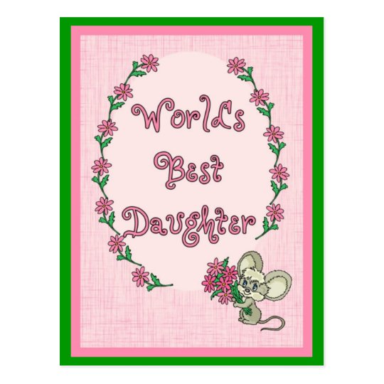 World's Best Daughter Postcard