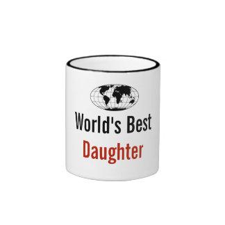World's best Daughter Ringer Mug