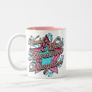 Worlds Best Daughter Two-Tone Coffee Mug