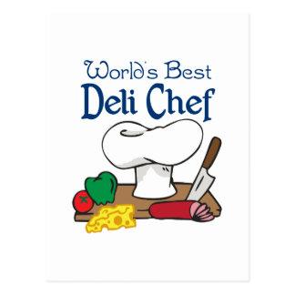 WORLDS BEST DELI CHEF POSTCARD