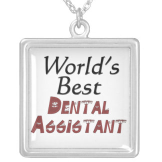 World's Best Dental Assistant Silver Plated Necklace