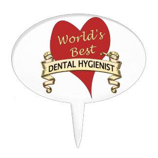 World's Best Dental Hygienist Cake Topper