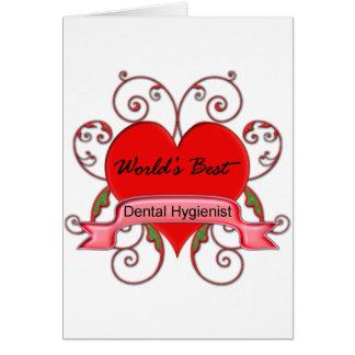 World's Best Dental Hygienist Card