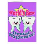 Worlds Best Dental Hygienist Greeting Card
