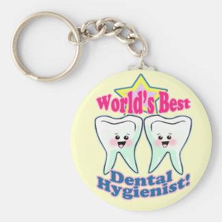 Worlds Best Dental Hygienist Keychain