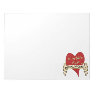 World's Best Dental Hygienist Notepad