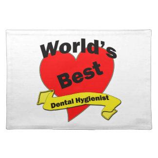 World's Best Dental Hygienist Cloth Place Mat