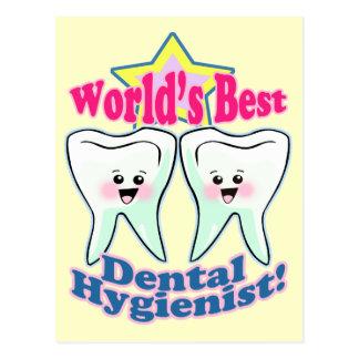 Worlds Best Dental Hygienist Postcard