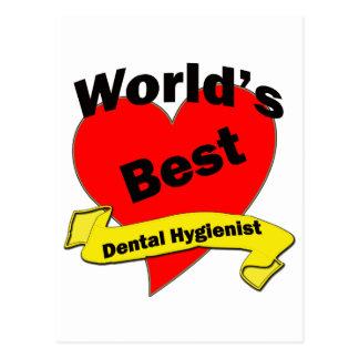 World's Best Dental Hygienist Postcard