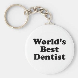 World's Best Dentist Basic Round Button Keychain
