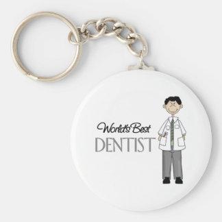 Worlds Best Dentist Basic Round Button Keychain