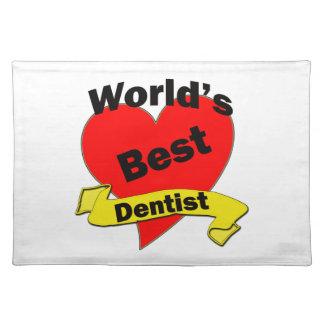 World's Best Dentist Cloth Placemat