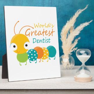 Worlds Best Dentist Photo Plaques