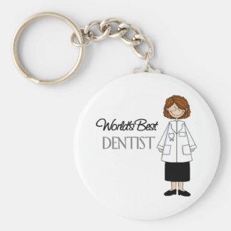 World's Best Dentist,Woman Basic Round Button Keychain